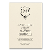 Monogram Romance - Invitation